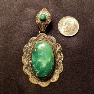 Vintage Turquoise Sterling Silver Pendant